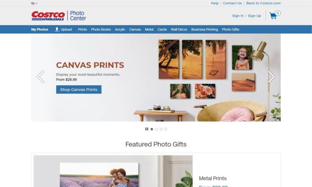 costco photo center website
